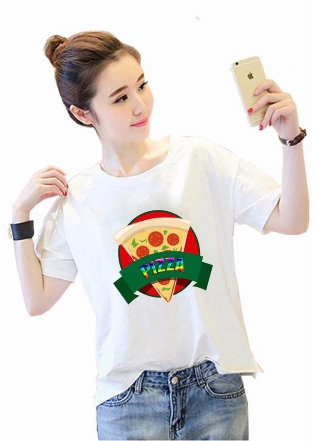 Áo Thun Nữ Hạnh Phúc - Bánh Pizza