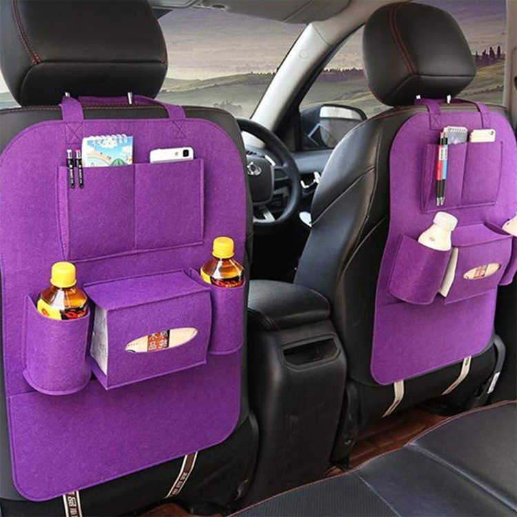 Auto Car Backseat Organizer Car-Styling Holder Felt Covers Versatile Multi-Pocket Seat Wool Felt Storage Container