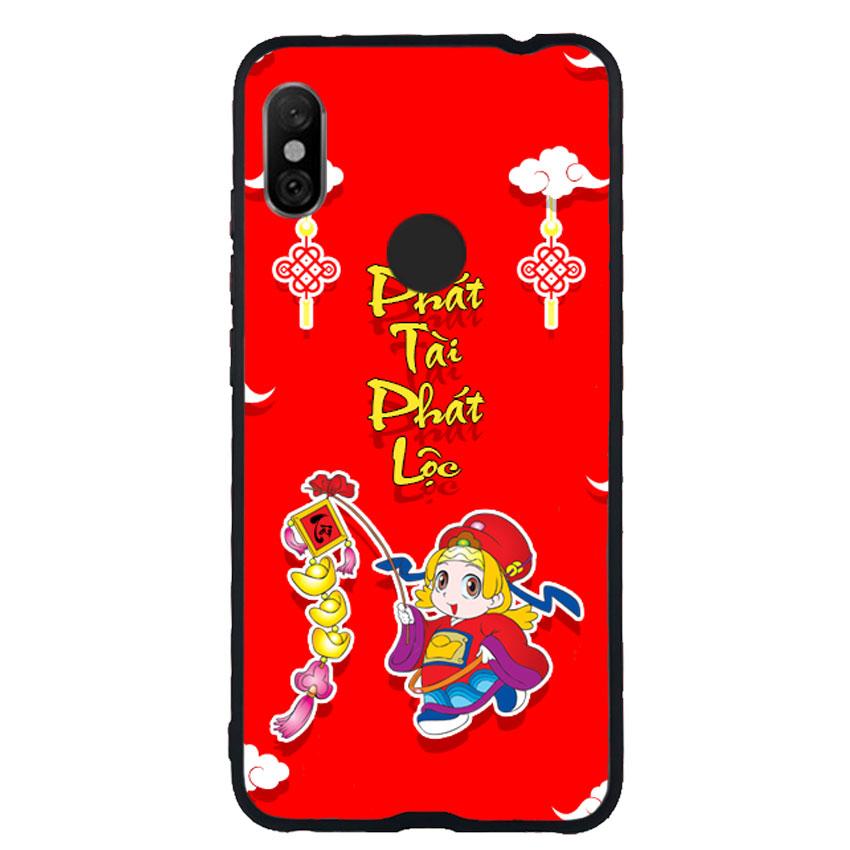 Ốp Lưng Viền TPU cho điện thoại Xiaomi Redmi Note 6 Pro -Thần Tài 03