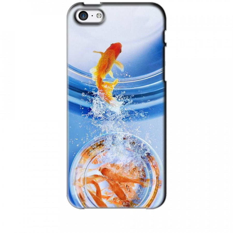 Ốp lưng dành cho điện thoại IPHONE 5C Cá Betta Vàng
