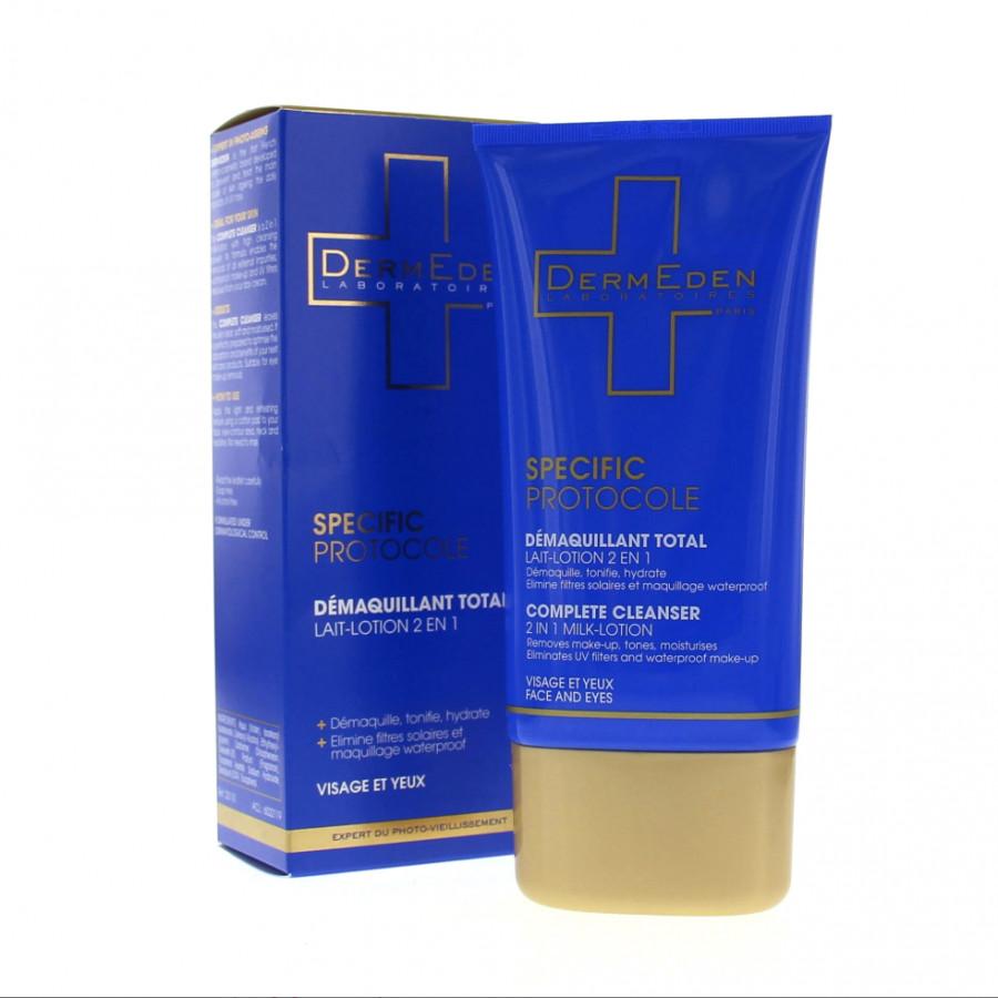 Sữa rửa mặt và tẩy trang 2 trong 1 Dermeden Specific Protocole Complete Cleanser 150ml (Dành cho da nhạy cảm)