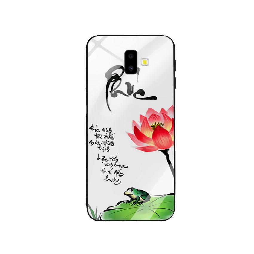 Ốp Lưng Kính Cường Lực cho điện thoại Samsung Galaxy J6 Plus - Phúc