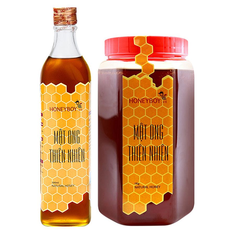 Combo Mật Ong Thiên Nhiên Honeyboy (1kg) + Phấn Hoa Thiên Nhiên Honeyboy (500g) - 894959 , 1685947102766 , 62_1675227 , 323000 , Combo-Mat-Ong-Thien-Nhien-Honeyboy-1kg-Phan-Hoa-Thien-Nhien-Honeyboy-500g-62_1675227 , tiki.vn , Combo Mật Ong Thiên Nhiên Honeyboy (1kg) + Phấn Hoa Thiên Nhiên Honeyboy (500g)