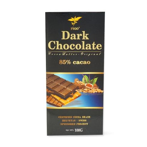 Kẹo Socola đen đắng 85% cacao Figo 100gram - 907741 , 8578306789162 , 62_1711437 , 99000 , Keo-Socola-den-dang-85Phan-Tram-cacao-Figo-100gram-62_1711437 , tiki.vn , Kẹo Socola đen đắng 85% cacao Figo 100gram