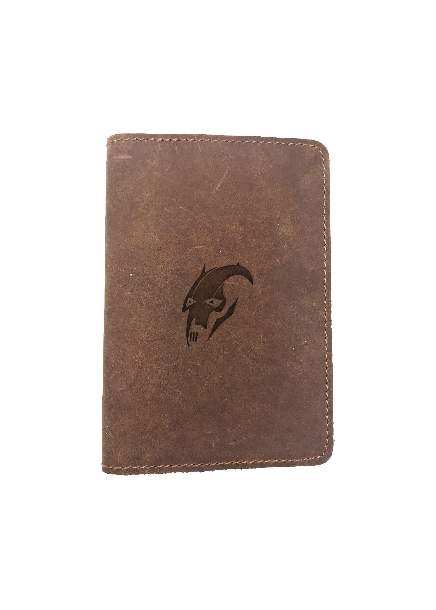 Passport Cover Bao Da Hộ Chiếu Da Sáp Khắc Hình Kí hiệu GENERAL GREVOZ STAR WARS (BROWN)