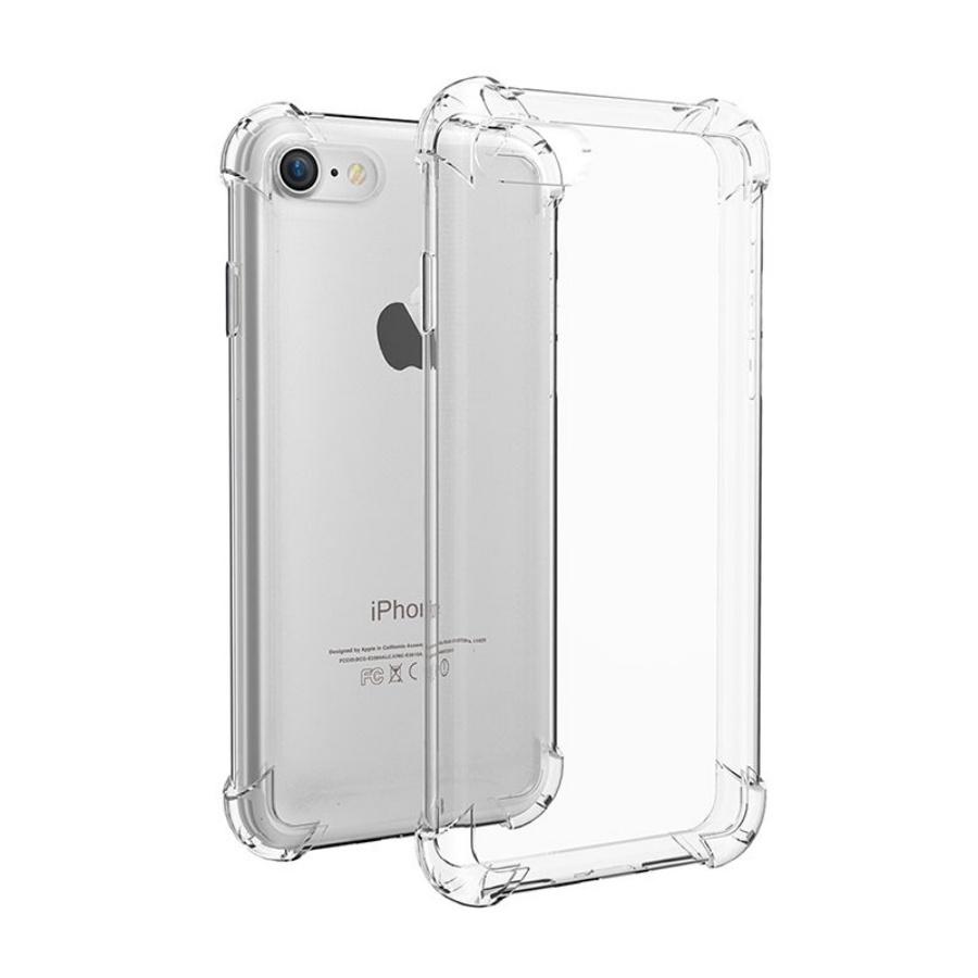 Ốp lưng chống sốc gờ cao 4 góc màu trong cho iPhone 7 / iPhone 8