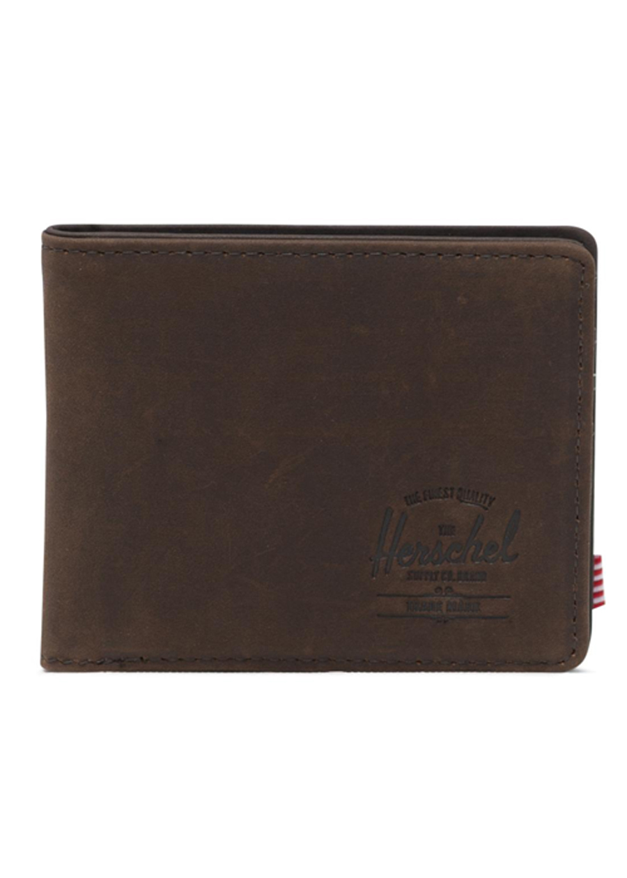 Ví Nam Herschel Hank Coin Leather RFID Wallet 10406-02233-OS Nubuck Brown (3.5 x 4.375 x 0.75 cm)