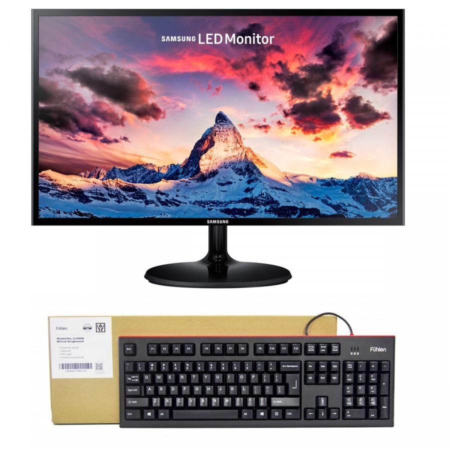 Combo Màn Hình Samsung LS27F350FHEXXV 27inch FullHD 4ms 60Hz FreeSync PLS + Bàn phím Fuhlen giả cơ L500S - 778771 , 6803237162848 , 62_11423525 , 4980000 , Combo-Man-Hinh-Samsung-LS27F350FHEXXV-27inch-FullHD-4ms-60Hz-FreeSync-PLS-Ban-phim-Fuhlen-gia-co-L500S-62_11423525 , tiki.vn , Combo Màn Hình Samsung LS27F350FHEXXV 27inch FullHD 4ms 60Hz FreeSync PLS