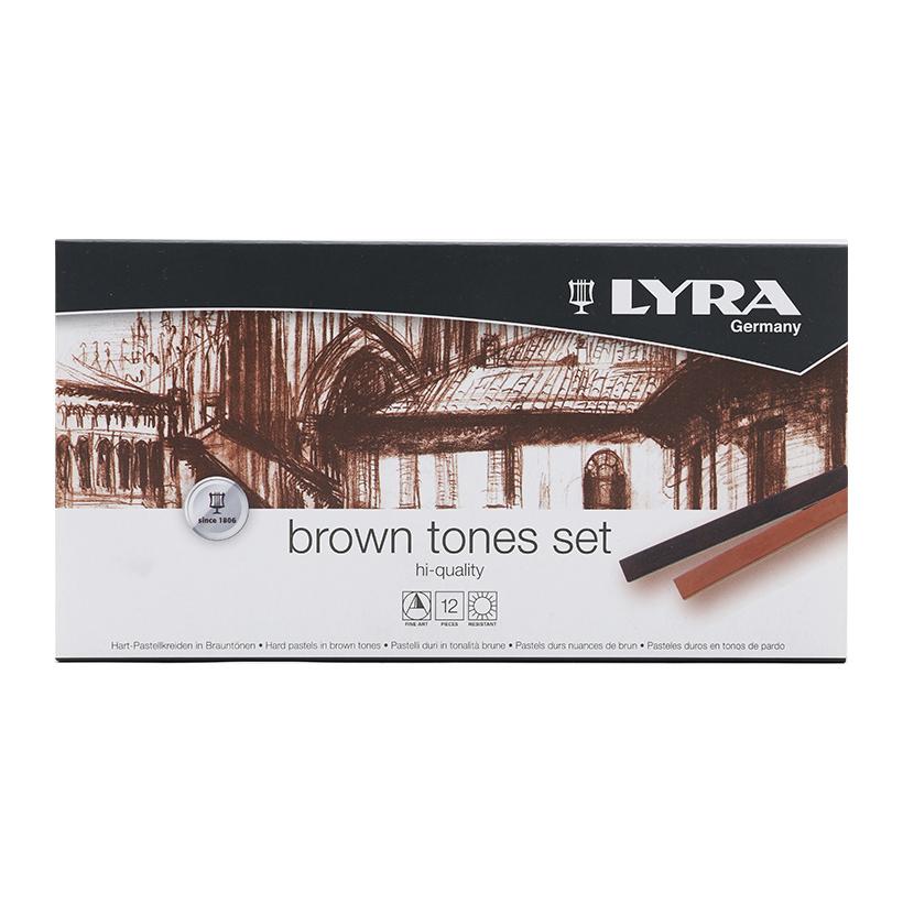 Hộp Bút Sáp Màu Lyra Brown Tones (12 Màu)