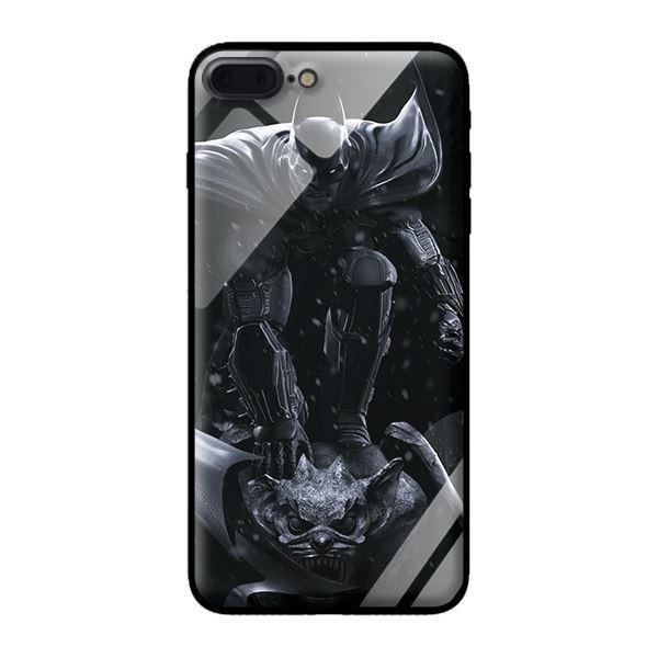 Ốp lưng kính cường lực cho iPhone 8 Plus Dơi Nền Đen - Hàng chính hãng