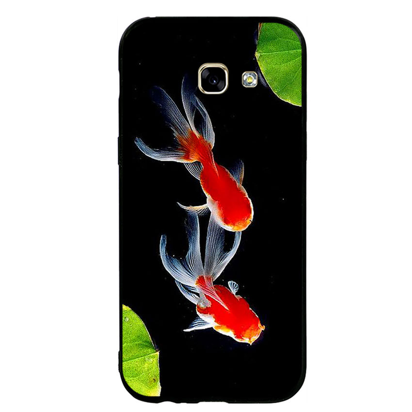 Ốp lưng nhựa cứng viền dẻo TPU cho điện thoại Samsung Galaxy A5 2017 - Cá Koi 03