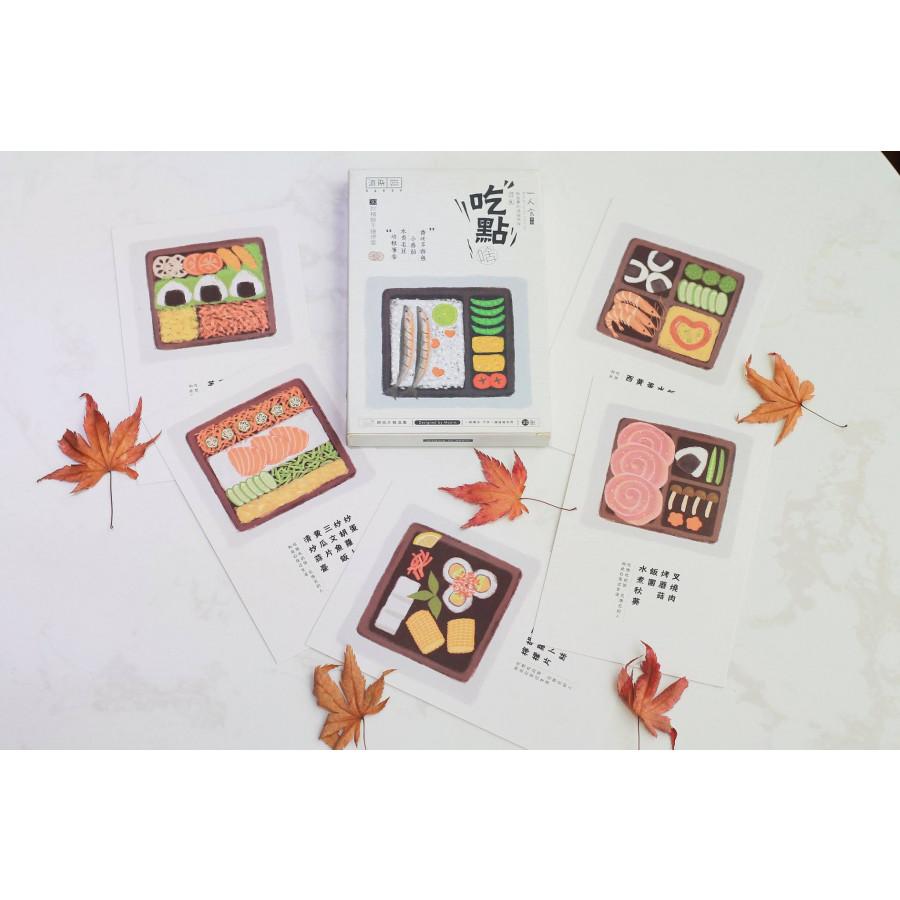 Bộ postcard hình hộp đồ ăn Bento Nhật