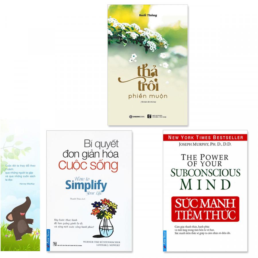 Combo 3 quyển: Sức Mạnh Tiềm Thức, Bí Quyết Đơn Giản Hóa Cuộc Sống, Thả Trôi Phiền Muộn (Tặng kèm bookmark danh... - 759624 , 7556343058589 , 62_8342080 , 282000 , Combo-3-quyen-Suc-Manh-Tiem-Thuc-Bi-Quyet-Don-Gian-Hoa-Cuoc-Song-Tha-Troi-Phien-Muon-Tang-kem-bookmark-danh...-62_8342080 , tiki.vn , Combo 3 quyển: Sức Mạnh Tiềm Thức, Bí Quyết Đơn Giản Hóa Cuộc Sống, T