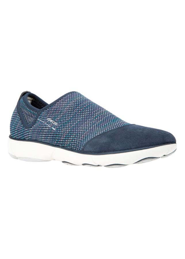 Giày Sneakers Nữ GEOX D NEBULA B KNITT.TEXT.+SUEDE NAVY - Xanh Navy