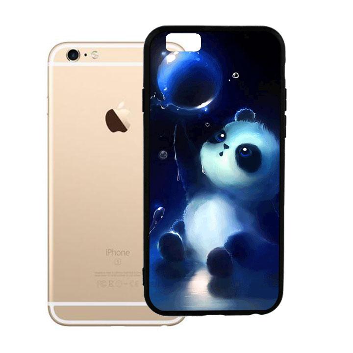 Ốp lưng viền TPU cho Iphone 6 Plus - Panda
