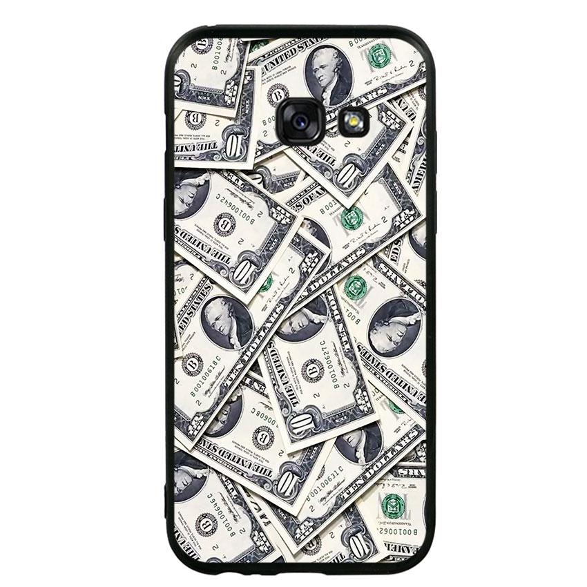 Ốp lưng viền TPU cho điện thoại Samsung Galaxy A3 2017 - Dollar 02