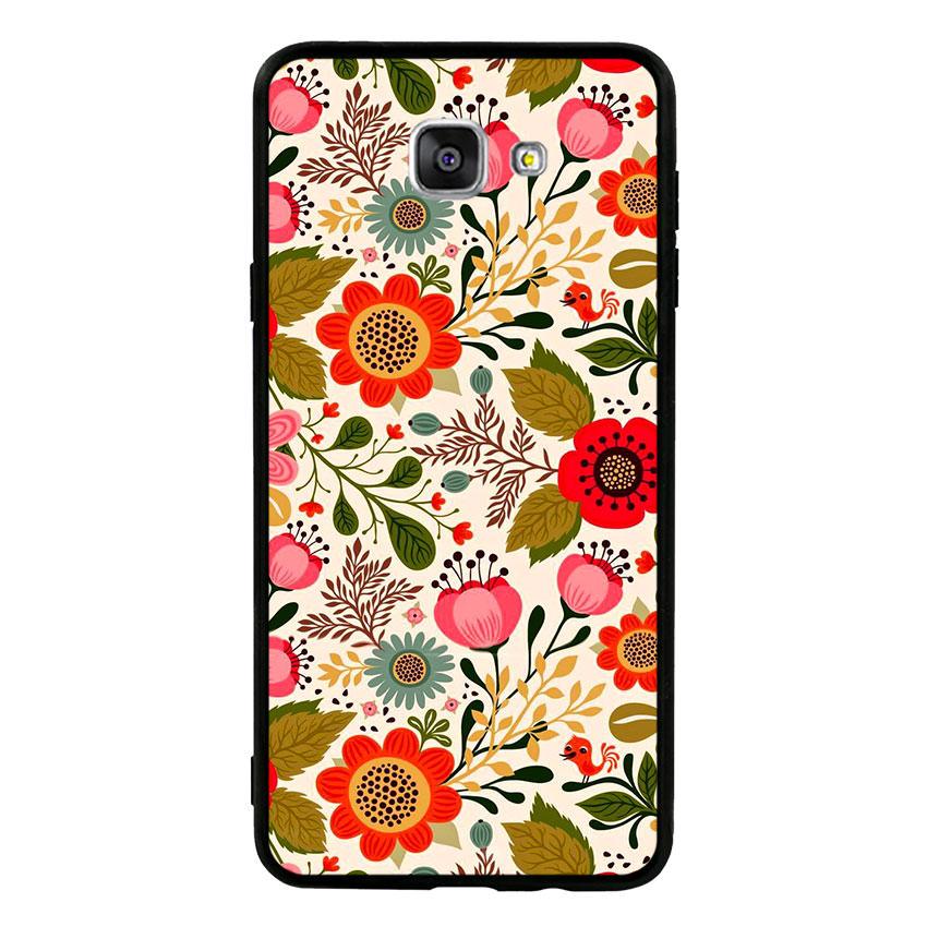 Ốp lưng nhựa cứng viền dẻo TPU cho điện thoại Samsung Galaxy A9 Pro - Flower 04