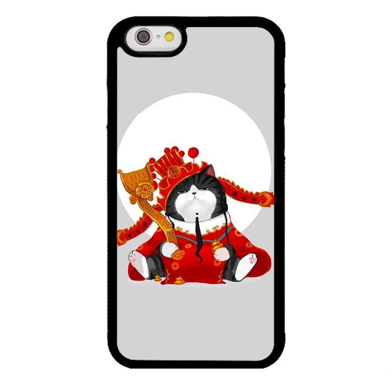 Ốp lưng dành cho điện thoại Iphone 6 Mèo Hoàng Thượng
