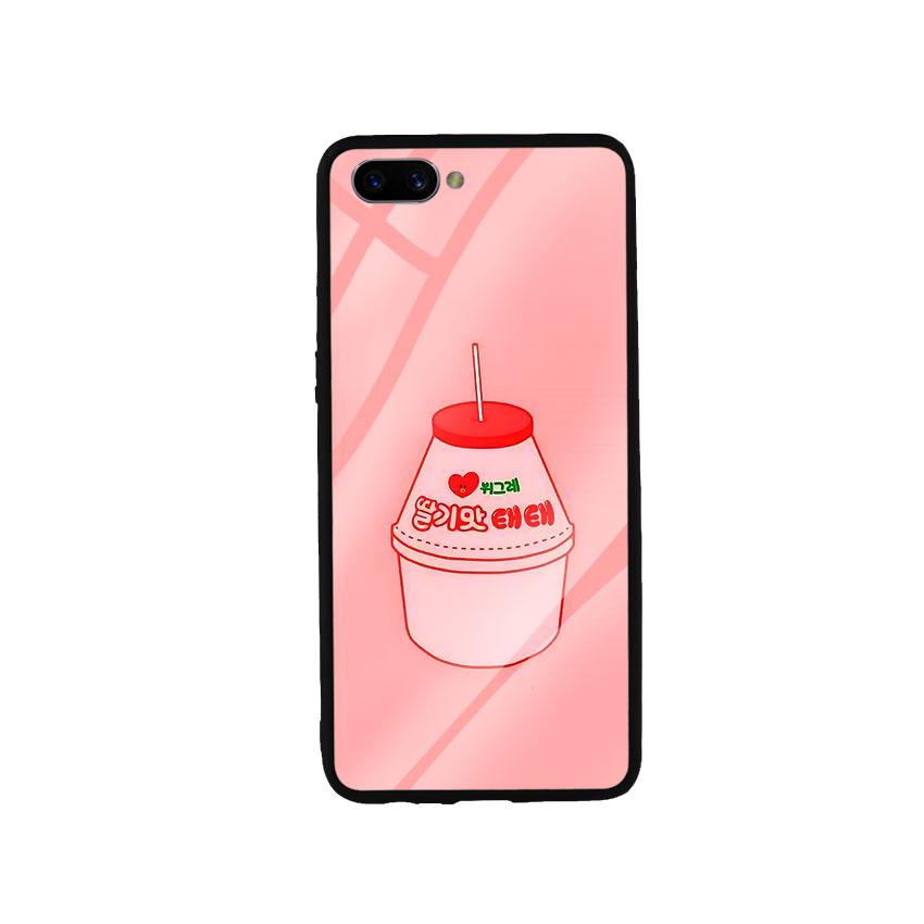 Ốp Lưng Kính Cường Lực cho điện thoại Oppo A3s - Tea Milk