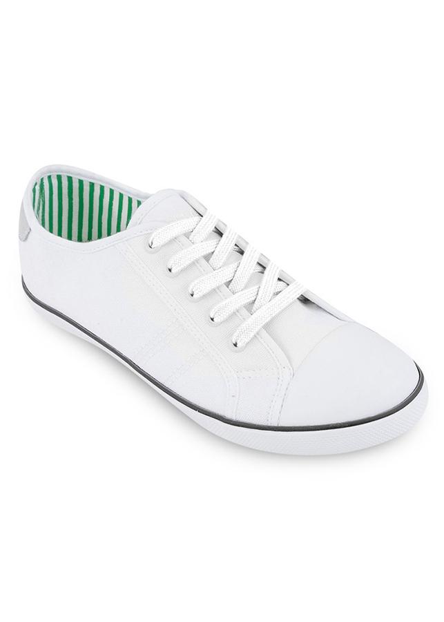 Giày Vải Nữ Mido's-16-1B-WHITE - Trắng