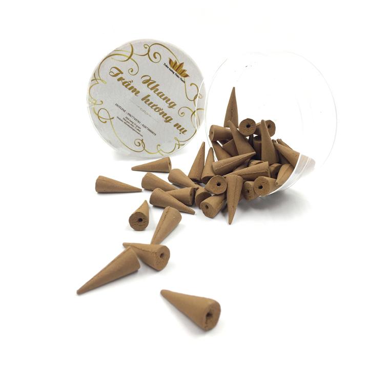 Trầm hương Thiện Thanh - Nhang trầm hương nụ chóp dòng Ngân Liên - loại 50 grams