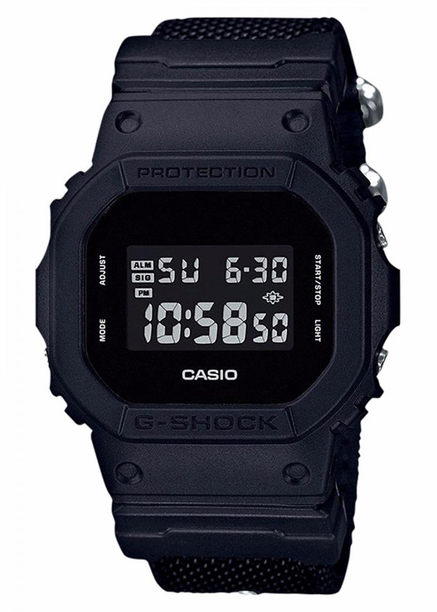 DW-5600BBN-1 - Đồng hồ Casio G-Shock chính hãng dây vải Cordura Bán chạy Màu Black Basic