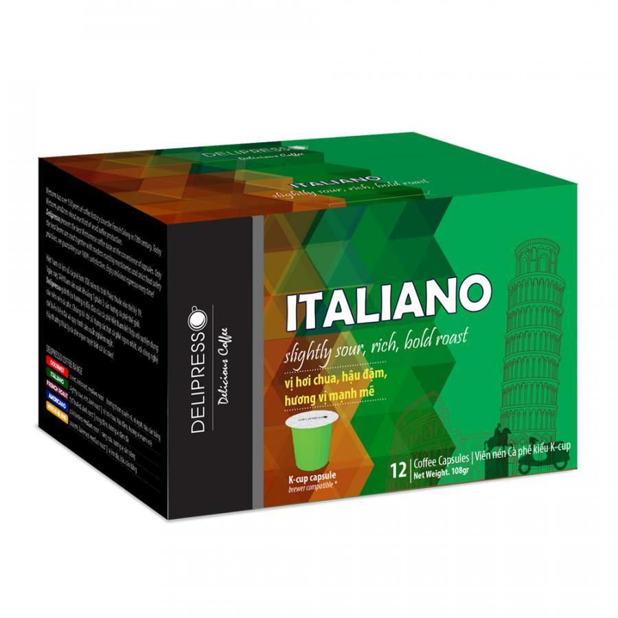 Cà phê Delipresso Italiano 12 viên x 9g - Phương Vy
