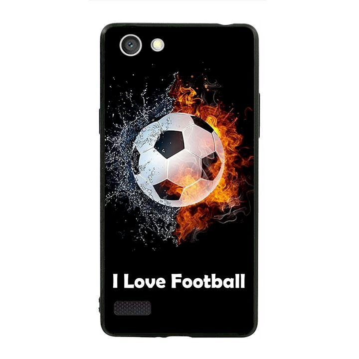 Ốp lưng viền TPU cho dành cho Oppo Neo 7 - I Love Football
