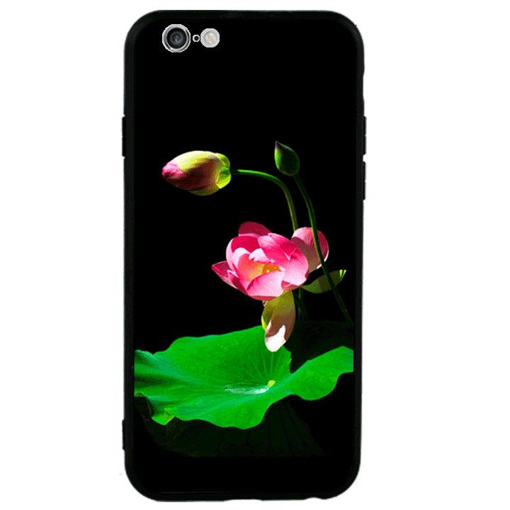 Ốp lưng viền TPU cao cấp cho Iphone 6 Plus - Lotus 01