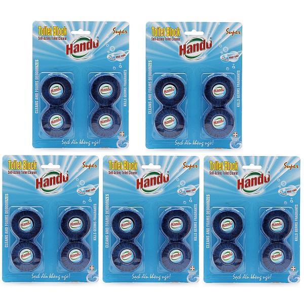 Combo 5 vỉ 20 viên tẩy và làm thơm toilet Hando - 989491 , 4332324911103 , 62_6652633 , 400000 , Combo-5-vi-20-vien-tay-va-lam-thom-toilet-Hando-62_6652633 , tiki.vn , Combo 5 vỉ 20 viên tẩy và làm thơm toilet Hando