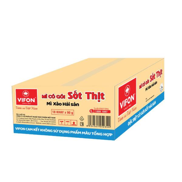 Thùng 18 Khay Mì Xào Hải Sản Vifon (90g / Khay) - 6046085 , 6121569473327 , 62_8015113 , 189000 , Thung-18-Khay-Mi-Xao-Hai-San-Vifon-90g--Khay-62_8015113 , tiki.vn , Thùng 18 Khay Mì Xào Hải Sản Vifon (90g / Khay)