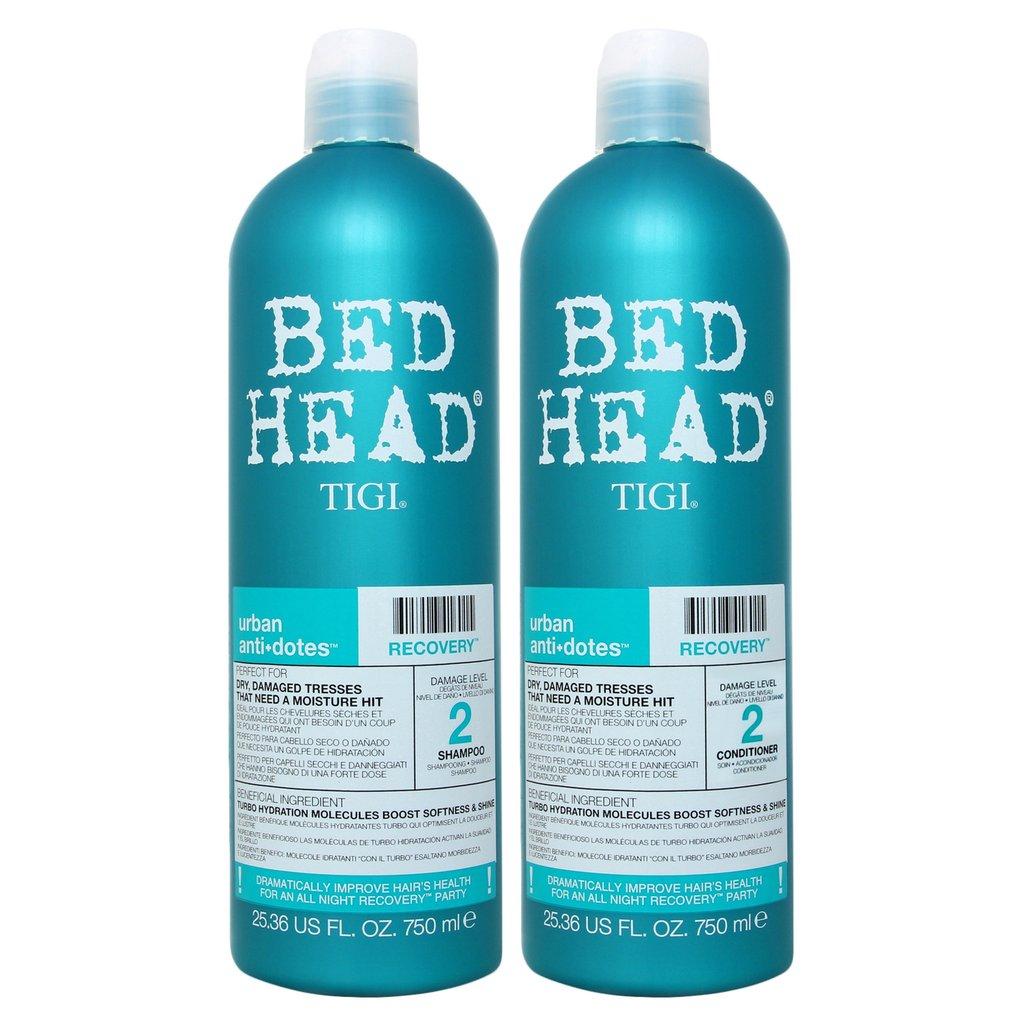 Dầu gội xả phục hồi tóc TIGI Bed head Urban Antidotes Recovery Cấp độ 2 (Màu xanh) 750ml