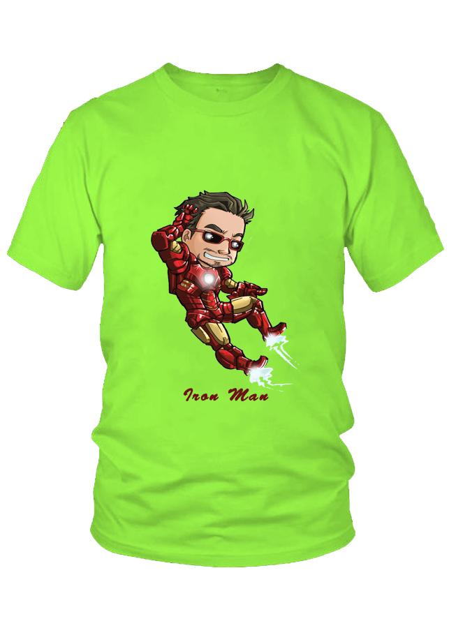 Áo thun nữ thời trang Iron Man Chibi M3