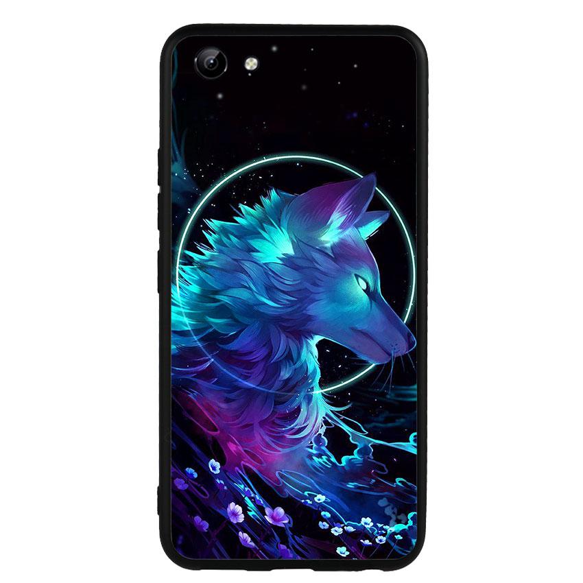 Ốp lưng nhựa cứng viền dẻo TPU cho điện thoại Vivo Y81 - Wolf