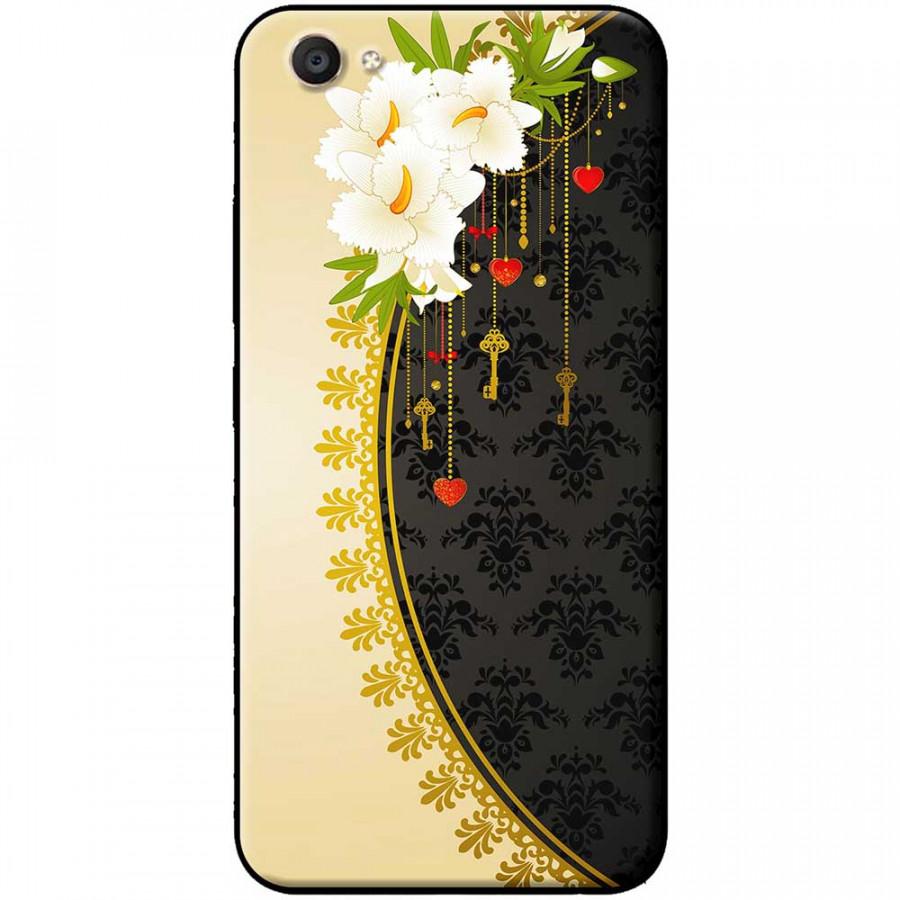 Ốp lưng dành cho Vivo Y69 mẫu Hoa trắng vàng đen