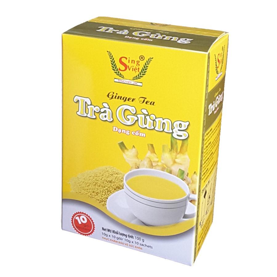 Trà gừng dạng cốm Sing Việt 100g
