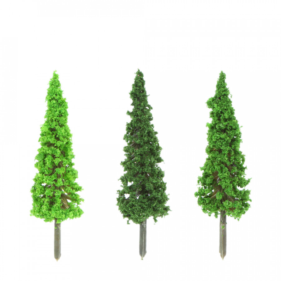 150pcs Mini Architectural Plastic Green Trees Scale Models Garden Decoration Train Railways Landscape Scenery Layout