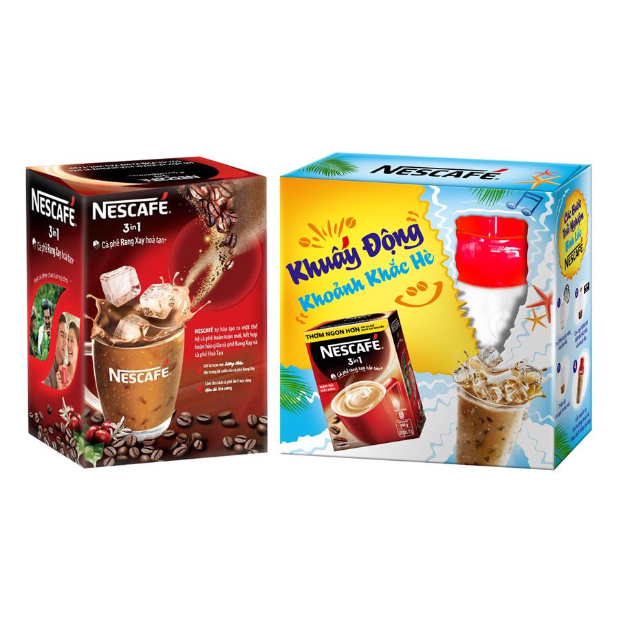 Cà phê NESCAFE 3in1 Đậm Đà Hài Hòa (20 gói x 17g) - Tặng 01 Bình Lắc