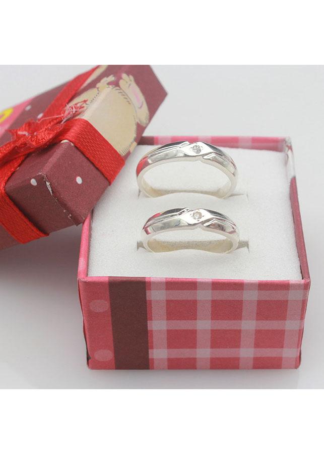 Nhẫn đôi BẠC HIỂU MINH nc527 sát cánh bên em bạc ý_cỡ trung