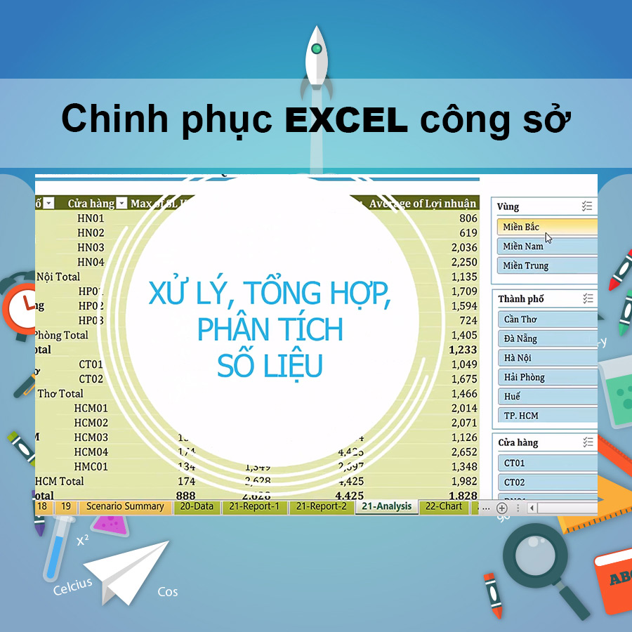Khóa Học Chinh Phục Excel Công Sở - 20085505 , 1985114476523 , 62_1714361 , 380000 , Khoa-Hoc-Chinh-Phuc-Excel-Cong-So-62_1714361 , tiki.vn , Khóa Học Chinh Phục Excel Công Sở