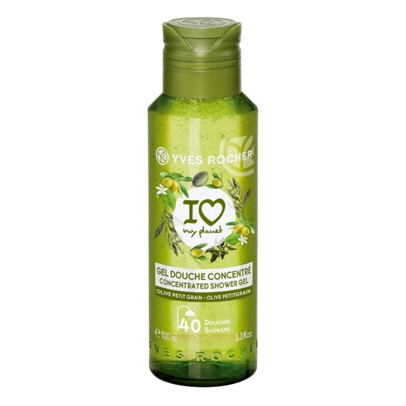 Gel Tắm Cô Đặc Yves Rocher Olive Petitgrain Concentrated Shower Gel 100ml
