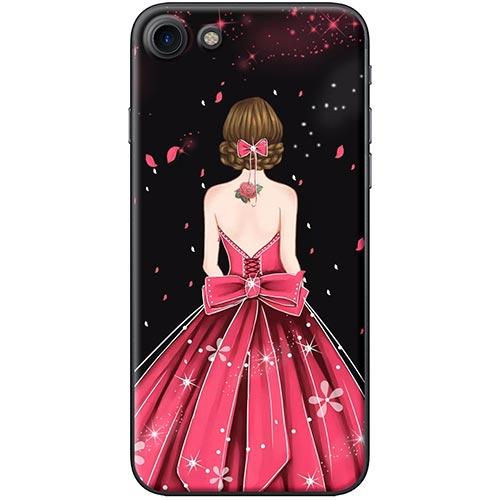 Ốp Lưng Hình Cô Gái Váy Hồng Dành Cho iPhone 7 / 8
