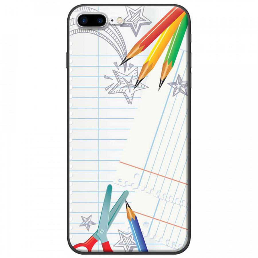 Ốp lưng dành cho iPhone 7 Plus mẫu Kéo chì màu