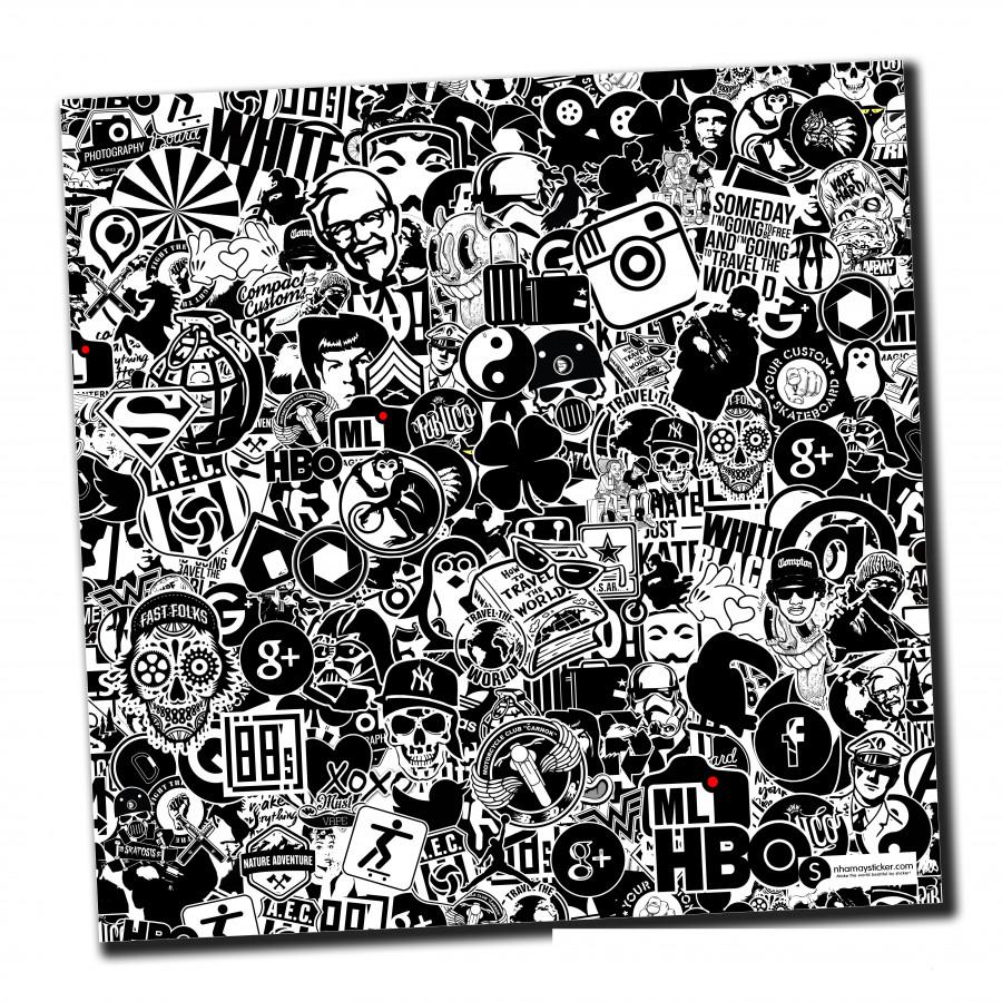 Sticker bomber hình dán nguyên tấm 50x50cm chủ đề - Black White - 807496 , 8140373988283 , 62_14500179 , 150000 , Sticker-bomber-hinh-dan-nguyen-tam-50x50cm-chu-de-Black-White-62_14500179 , tiki.vn , Sticker bomber hình dán nguyên tấm 50x50cm chủ đề - Black White