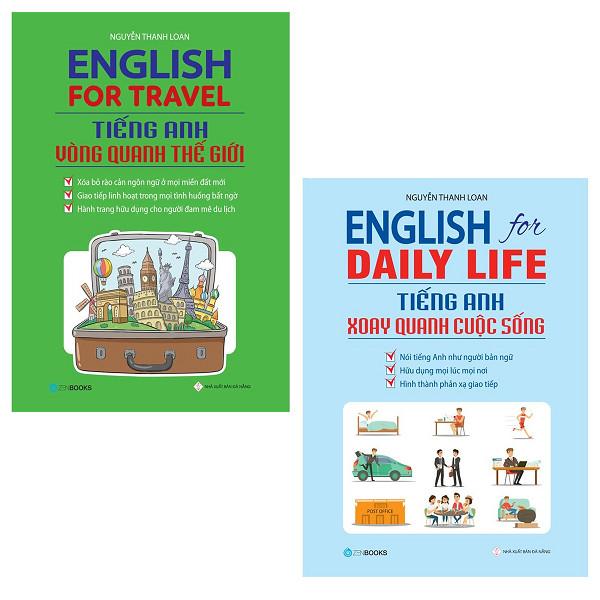 Combo English For Travel - Tiếng Anh Vòng Quanh Thế Giới + English For Daily Life - Tiếng Anh Xoay Quanh Cuộc Sống - 1478784 , 4127099224493 , 62_15279030 , 240000 , Combo-English-For-Travel-Tieng-Anh-Vong-Quanh-The-Gioi-English-For-Daily-Life-Tieng-Anh-Xoay-Quanh-Cuoc-Song-62_15279030 , tiki.vn , Combo English For Travel - Tiếng Anh Vòng Quanh Thế Giới + English F