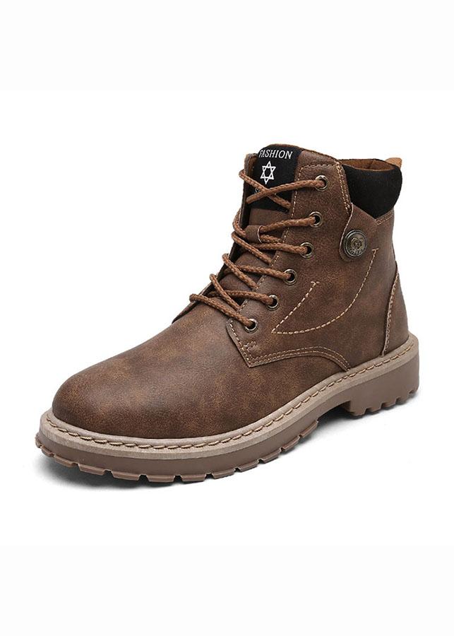 Rozalo RM6823-Giày boot nam cao cấp chống thấm chống trơn trượt - 1111270 , 9796527903542 , 62_6999297 , 449000 , Rozalo-RM6823-Giay-boot-nam-cao-cap-chong-tham-chong-tron-truot-62_6999297 , tiki.vn , Rozalo RM6823-Giày boot nam cao cấp chống thấm chống trơn trượt