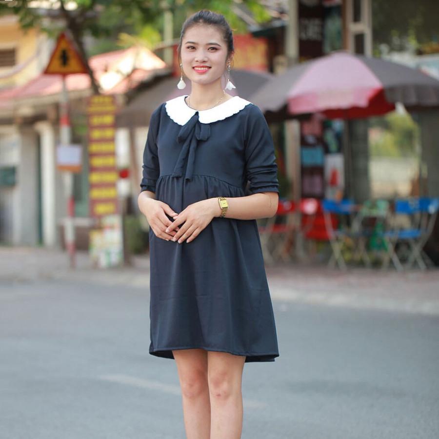 Đầm bầu thời trang  - Đen