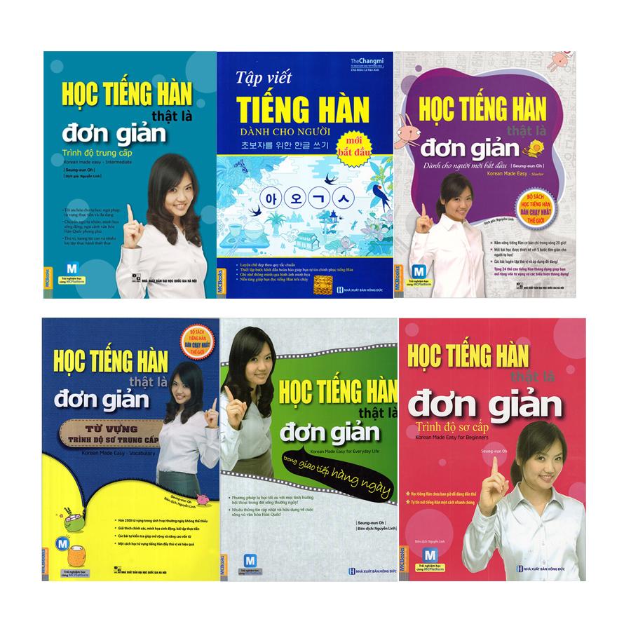 Combo Học Tiếng Hàn Đơn Giản Cho Người Mới Bắt Đầu (6 Cuốn) - 922630 , 6883485011228 , 62_12313485 , 812000 , Combo-Hoc-Tieng-Han-Don-Gian-Cho-Nguoi-Moi-Bat-Dau-6-Cuon-62_12313485 , tiki.vn , Combo Học Tiếng Hàn Đơn Giản Cho Người Mới Bắt Đầu (6 Cuốn)