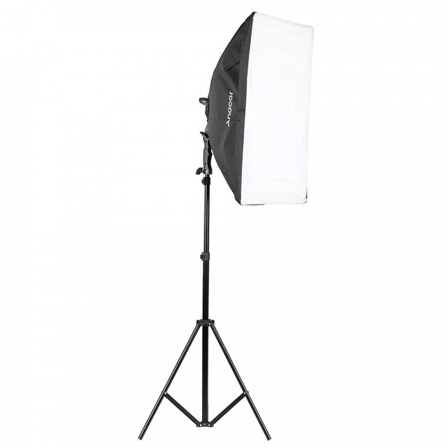 Andoer LED Photography Studio Lighting Light Kit with 2 * 30W LED Lamp + 2 * Softbox * 2 * Light Stand + 1 * Carrying