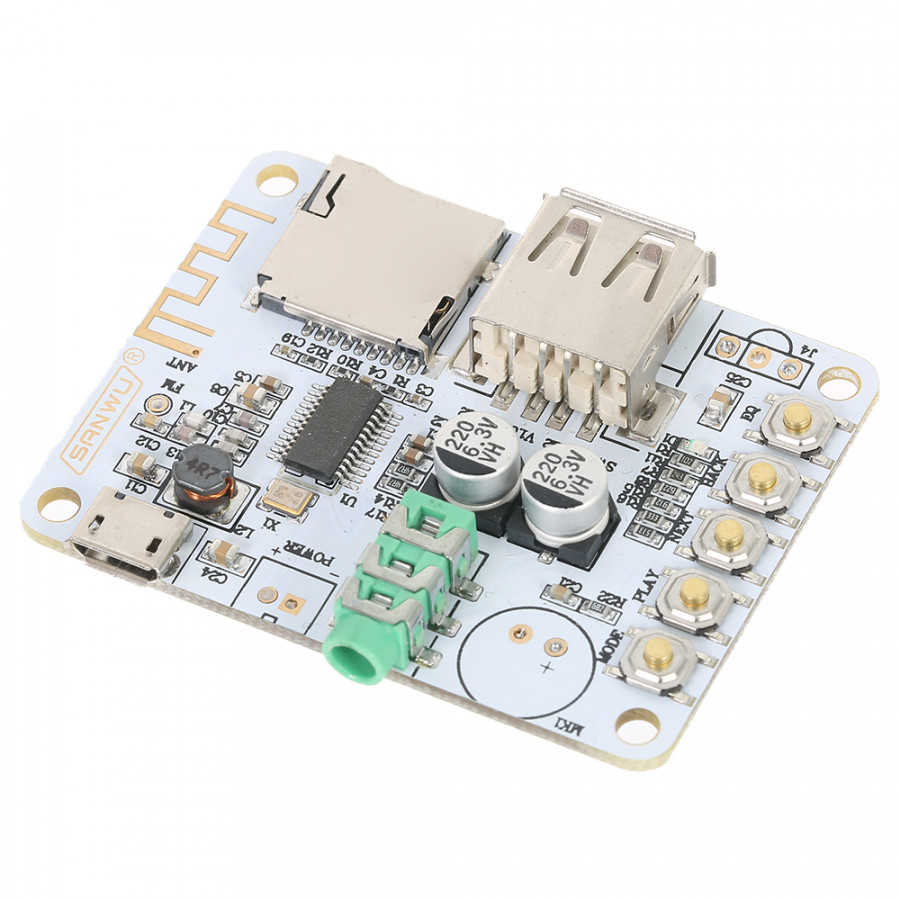 USB DC 5V Bluetooth 2.1 Audio Receiver Board Wireless Stereo Music Module with TF Card Slot - 1843067 , 2283918962341 , 62_13898643 , 242000 , USB-DC-5V-Bluetooth-2.1-Audio-Receiver-Board-Wireless-Stereo-Music-Module-with-TF-Card-Slot-62_13898643 , tiki.vn , USB DC 5V Bluetooth 2.1 Audio Receiver Board Wireless Stereo Music Module with TF Car